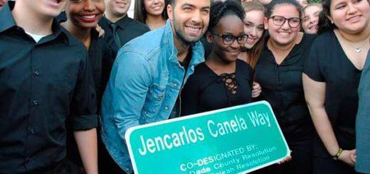 Jencarlos Canela inauguró calle con su nombre en Hialeah, Florida | Foto cortesía