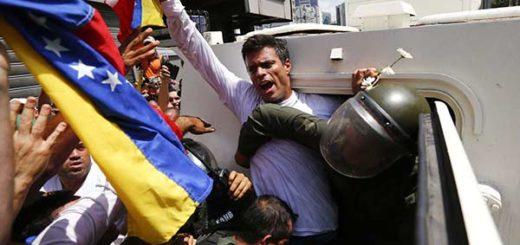 El 18 de febrero de 2014, Leopoldo López se entregó a la justicia venezolana |Foto archivo