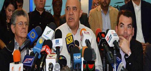 Dirigentes de la Mesa de la Unidad Democrática (MUD) |Foto: Nota de prensa