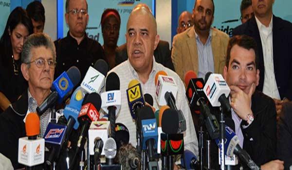 Dirigentes de la Mesa de la Unidad Democrática (MUD)  Foto: Nota de prensa