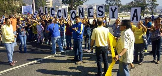 Protesta sorpresa de la oposición |Foto: Twitter