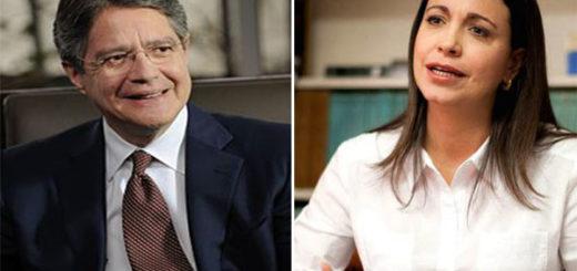 Guillermo Lasso / María Corina Machado | Foto: NotiTotal