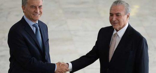 Mauricio Macri y Michel Temer se reunieron en Brasilia |Foto: El Clarín