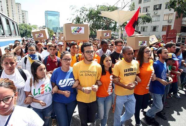 Estudiantes aún no revelan el destino de la marcha |Foto: El Nacional