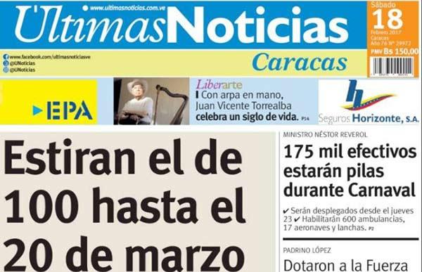 Portadas de los medios impresos nacionales e for La patilla nacionales