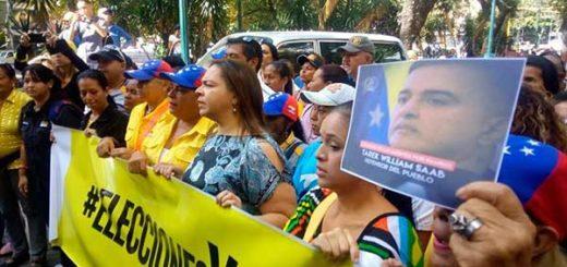 Oposición protesta ante el TSJ |Foto Twitter