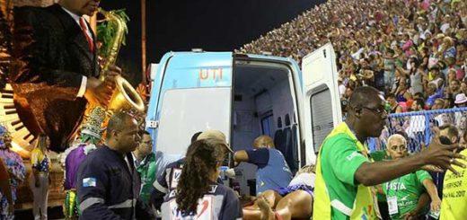 Doce heridos tras colapsar una carroza del Carnaval de Río | Foto: EFE