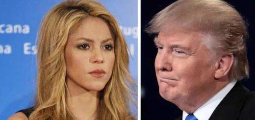 Shakira rechaza veto migratorio de Donald Trump |Comoposición: Notitotal