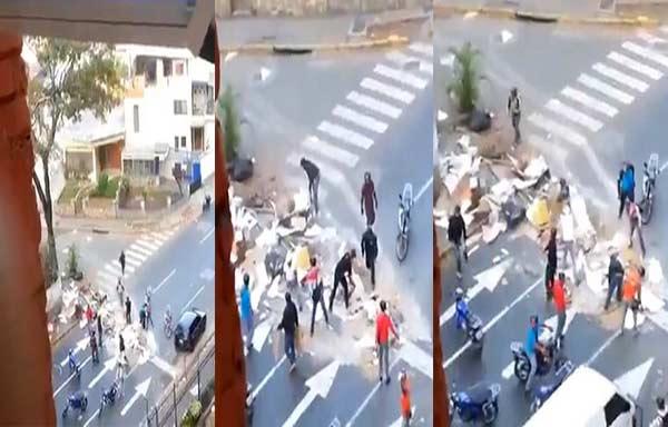 Colectivos violentos arremeten contra viviendas en Táchira | Captura de video