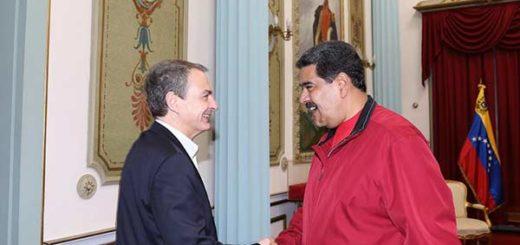José Luis Rodríguez Zapatero y Nicolás Maduro | Foto: @PrensaPresidencial