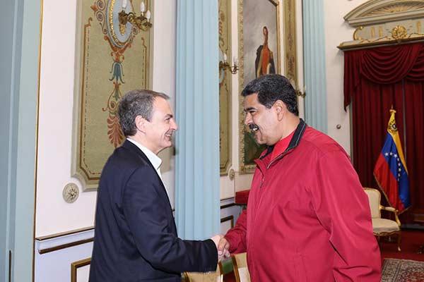 José Luis Rodríguez Zapatero y Nicolás Maduro | Foto archivo /@PrensaPresidencial