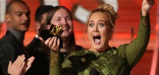 Adele, la gran triunfadora de los Grammys 2017 | Foto: Reuters
