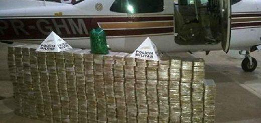 Aeronave con 430 quilos de cocaína | Foto: Polícia Militar
