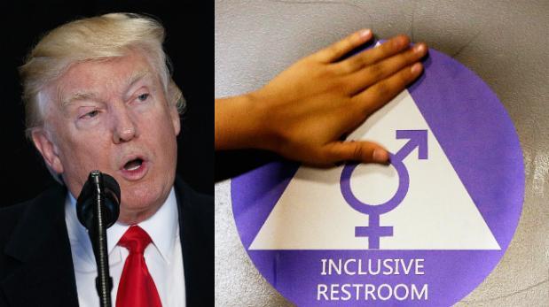 Donald Trump anuló norma que permitía a transgéneros elegir baño en las escuelas de EEUU   Foto: AP