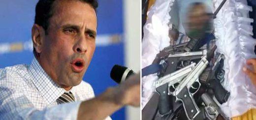 """El video compartido por Capriles que evidencia los fallos de la """"Operación desarme""""   Composición"""