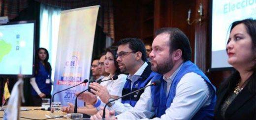 CNE de Ecuador llama a la calma y promete resultados a la brevedad | Foto: @JuanPabloPozoB