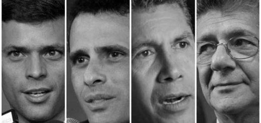 De izquierda a derecha: Leopoldo López, Henrique Capriles, Henri Falcón y Henry Ramos. | Foto: Prodavinci