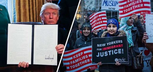 Donald Trump ordenó un veto musulmán que generó protestas | Foto: Daily Express