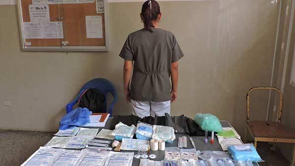 Detenida enfermera tras intentar robar insumos médicos en una maternidad | Foto: Prensa Sahum