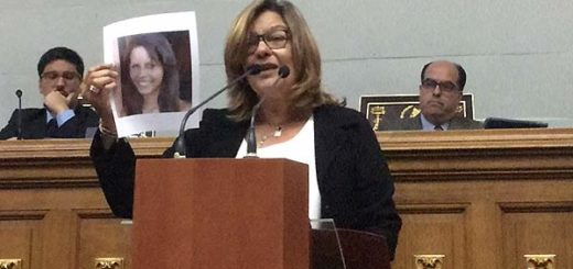 Rosa Orozco, madre de Geraldine Moreno en la AN   Foto: @AsambleaVE