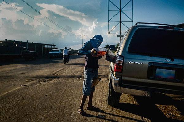 Venezuela sin gasolina  Foto cortesía