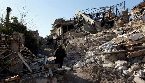 Al menos 26 muertos por bombardeos contra una ciudad del norte de Siria   Foto: EFE
