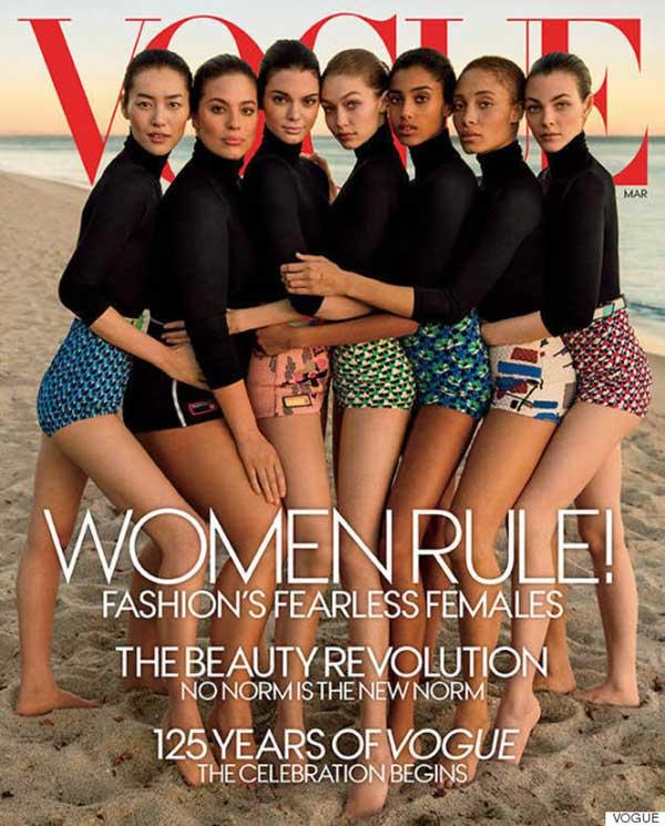 Portada de la edición del mes de marzo | Imagen: Vogue