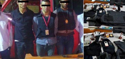 Delincuentes tenían ropa similar a la de funcionarios de seguridad | Fotos: @DavirsonRojas