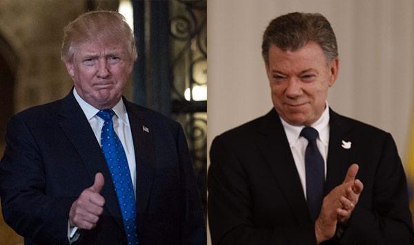 Donald Trump / Juan Manuel Santos | Imagen: El País Calí