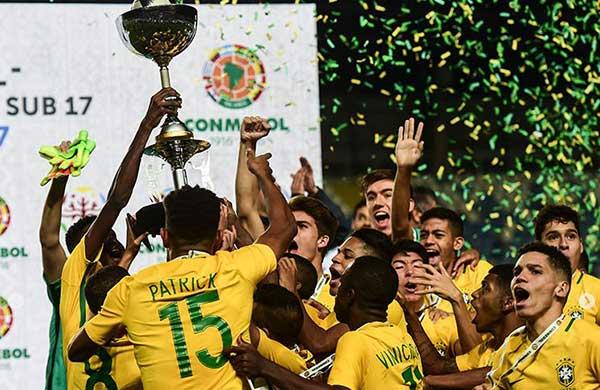 Brasil se coronó campeón del Sudamericano Sub-17 tras vencer 5-0 a Chile | Foto: AFP