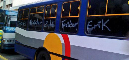 Transportistas de Barquisimeto protestan en rechazo a Erick Zuleta | Foto: Twitter