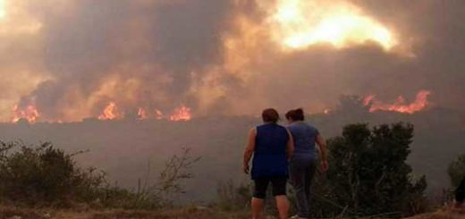 Cerca de 6.000 evacuados por incendio forestal en Valparaíso y Viña del Mar | Foto: @SanAntonio_SOS