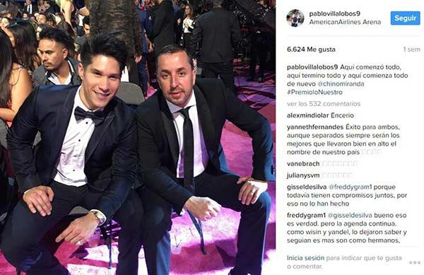 La polémica foto publicada por el manager de Chyno Miranda | Créditos: Instagram