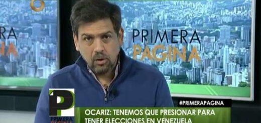 Carlos Ocariz, alcalde del municipio Sucre |Foto: Globovisión
