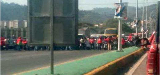Chavistas realizaron protesta en Valle Coche |Foto cortesía