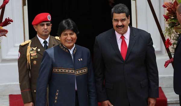 Evo Morales y Nicolás Maduro | Foto: PresidencialVen