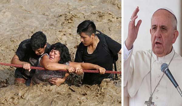 Papa Francisco hace una donación a Perú debido al desastre de las inundaciones |Composición: Notitotal