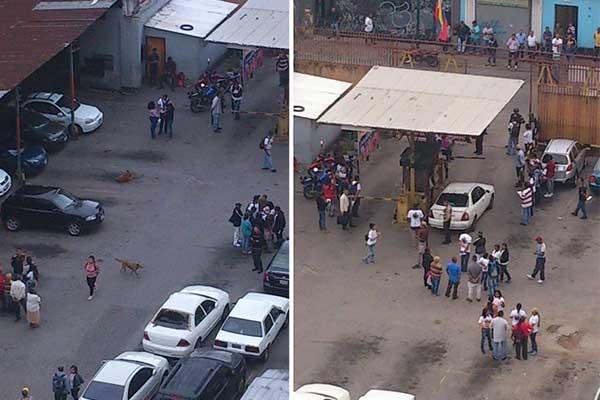 Colectivos armados invadieron estacionamiento en La Candelaria | Composición