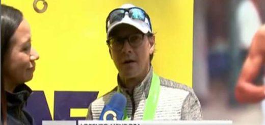 Lorenzo Mendoza, participó en el Maratón CAF |Captura de video