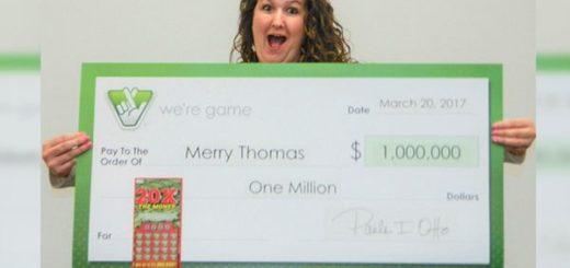 Sin esperarlo, Merry Thomas ganó un millón de dólares |Foto: Infobae