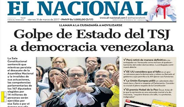 Portada de diario nacional |Foto: Redpres