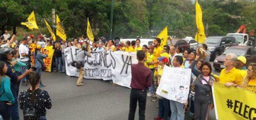 Dirigentes de Primero Justicia protestaron en la Francisco Fajardo |Foto: Twitter