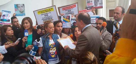 Lilian Tintori entregó documento a la AN a favor de la aplicación de la Carta Democrática | Foto: @AsambleaVE