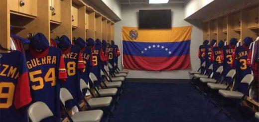 Selección venezolana de béisbol se alista para su primera práctica oficial de cara al Clásico Mundial | Foto: Prensa Venezuela WBC