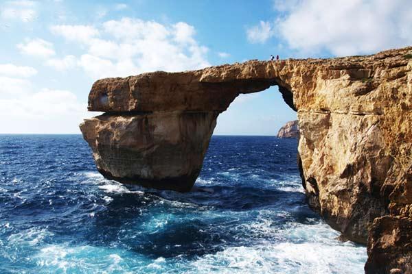 """La """"Ventana azul"""" era una atracción rocosa de Malta  Foto: Viaja en mi mochila"""