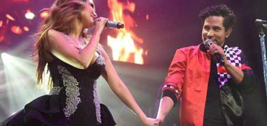 Dulce María y Christian Chávez se reencontraron en el escenario | Foto: Twitter