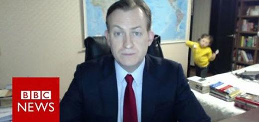Niños interrumpen entrevista de su papá para BBC |Foto: Youtube