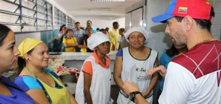 Capriles aborda la problemática de alimentación que tienen los niños venezolanos |Foto: Nota de prensa