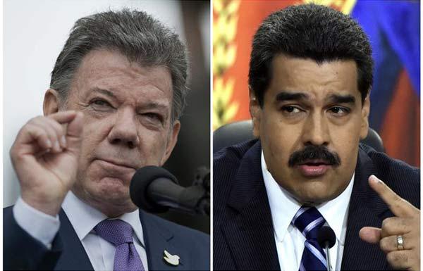 Juan Manuel Santos / Nicolás Maduro | Composición