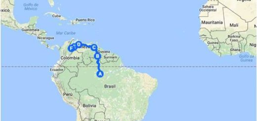 Esta sería la presunta ruta de posibles elementos extremistas islámicos a través de Venezuela | Imagen: La Patilla